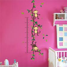 Lovebird Growth Chart Monkeys Growth Chart Wall Decals Kids Playroom Decoration