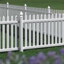 Danbury Vinyl Picket Fence Straight avinylfencecom
