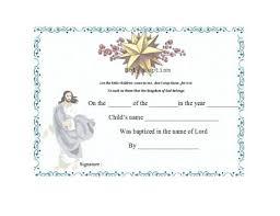 Certificates Printable 47 Baptism Certificate Templates Free Printable Templates