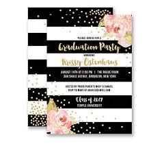 Black And White Invitation Paper Amazon Com Graduation Party Invitations Black White