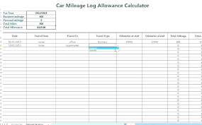 Irs Mileage Log Excel Templates A Business Mileage Log Mileage Tracker Template