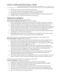 Social Work Resume Sample Cool Social Worker Resume Templates Professional Social Worker Resume
