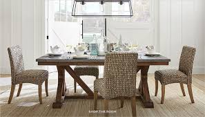 Coastal style furniture Dining Room Pottery Barn Coastal Furniture Decor Pottery Barn