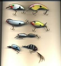 above a collection of fish catchin artwork