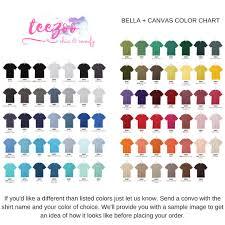 Bella T Shirts Color Chart Bella Canvas Shirts Color Chart Rldm