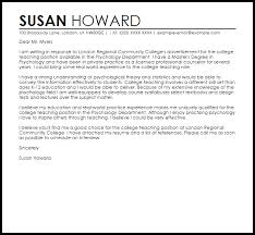 College Professor Cover Letter Sample Sarahepps Com