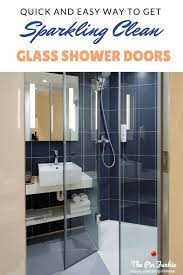 how to clean glass shower doors the