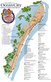 ocean city nj street map  ocean city nj  pinterest  ocean city