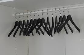 empty closet with hangers. Empty Black Hangers Hanging In Closet With E