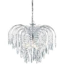 most recently released searchlight 4175 5 waterfall crystal chandelier finished in chrome in waterfall crystal chandelier