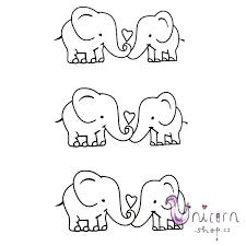 Nalepovací Tetování Sloni