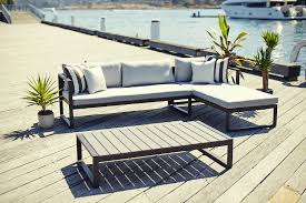 outdoor sectional metal. Piano Chaise Sectional (L/R) By Harbour, Shown In Powder Coated Aluminum Outdoor Metal S