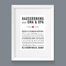 Poster Hausordnung Oma Und Opa Familienregeln Art Print