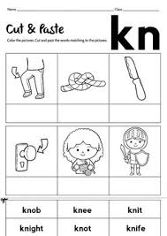 Kn phonic sound worksheets teacher worksheets kn word list free printable kn sound words for phonics silent k phonics worksheets and games galactic phonics No Prep Blend Word Kn Worksheet By Little Goldilocks Tpt