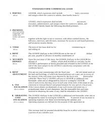 Standard Commercial Lease Agreement 5 Commercial Lease Agreement Forms Pdf Doc