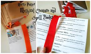 harry potter spell and creature books tutorial