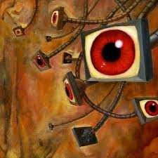 George Orwell  Terms to Know     dystopia        an imaginary place     Frighteningly recognisable  Orwell s classic text outlines an authoritarian  future state whose surveillance technology has become reality in the   st
