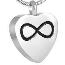 ijd8721 infinity in my heart cremation pendant necklace hold human pet