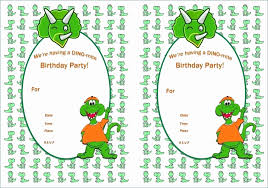 Birthday Cards Free Download Printable Beauteous Birthday Invitation Free Templates Dinosaur Birthday Invitations