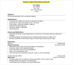 40 High School Resume Templates PDF DOC Free Premium Templates Inspiration High School Diploma On Resume
