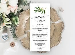 002 Free Wedding Menu Templates Template Ideas Ulyssesroom