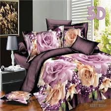 pink and yellow flower 4 piece 3d bedding sets queen size