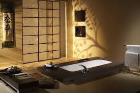 Japanese Style Bathroom Fancy Japanese Style Bathroom Design With Wooden Floor And
