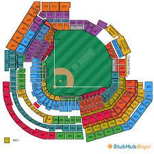 Detailed Seating Chart Busch Stadium Busch Stadium St Louis Mo