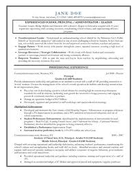 Resume Resume Objective For Assistant Principal
