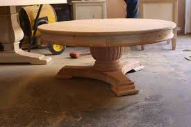 round pedestal coffee table unfinished