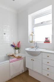 white vintage style bathroom makeover