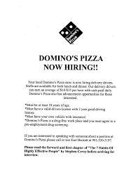 Agreeable Pizza Delivery Resume Skills Also Domino S Pizza Hiring Delivery  Drivers