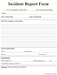 Incident Reporting Form Custom Security Daily Activity Report Template Free Download Incident Form