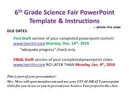 Science Fair Powerpoint Templates 6th Grade Science Fair Powerpoint Template Instructions