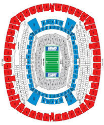 Ny Giants Seating Chart With Rows 65 Explanatory Metlife Stadium Concert Seating Chart
