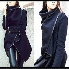 asymmetrical jacket women coat black leather fall outfits winter sweater womens motorcycle