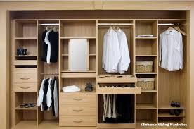 spectacular closet interiors oak hanging shelves drawers
