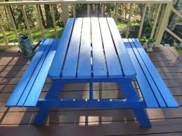 best paint for outdoor furniture31 best Painted Picnic Tables images on Pinterest  Painted picnic
