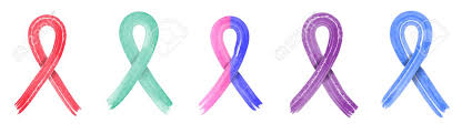 Cancer Ribbon Color Chart Different Colorful Cancer Ribbons Set Isolated On White Cancer