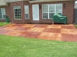 backyard stamped concrete patio ideas diy
