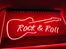 Light Rock Music Us 11 5 Lb303 Rock And Roll Guitar Music New Led Neon Light Sign Home Decor Crafts In Plaques Signs From Home Garden On Aliexpress