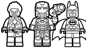 Small Picture Lego Batman vs Lego Captain Marvel vs Lego War Machine Coloring