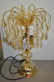 vintage decorative crystal chandelier table lamp