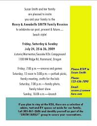 Family Reunion Ideas Free Planner Sample Itinerary Template For The