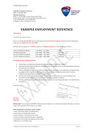 Free Formal Software Engineer Employment Reference Letter