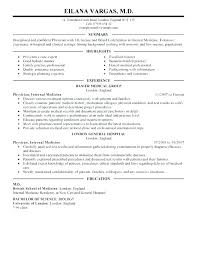 Internal Resume Template Delectable Internal Job Posting Resume Template Physician Examples Medicine
