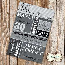full size of pleasing surprise 30th birthday party invitations for him amazing 30th birthday surprise party