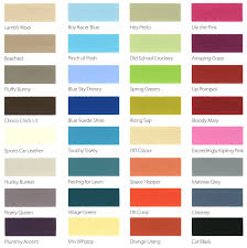 Colour Chart For Paint Websavvy Me