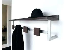 Wall Mounted Hat Rack Coat Hooks Extraordinary Wall Mounted Hat Rack Coat Hooks Simitrustlaw
