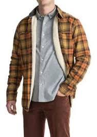 timberland fleece lined flannel shirt jacket long sleeve for men